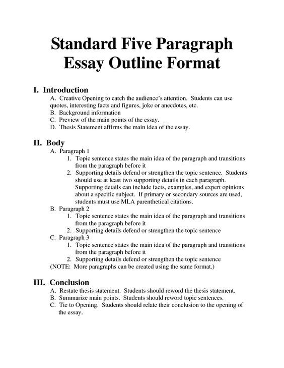 Essay Lay Out Latex Templates Essays Informal Essay Outline